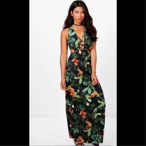 Topical maxi dress
